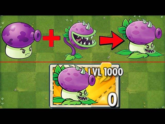 fume-chomper level 1000 power-up!in plants vs zombies