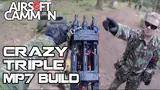 crazy airsoft triple mp7 diy build - silverback srs sniper scopecam gameplay