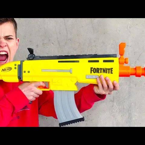 nerf guns: fortnite scar in real life