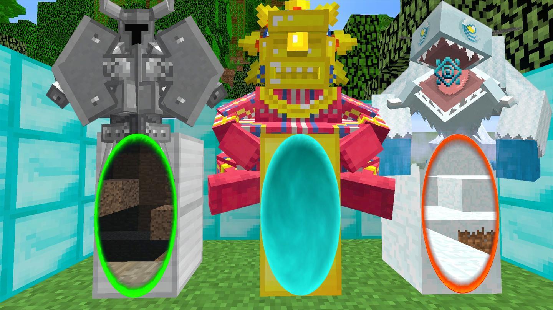 我的世界: 3个传送门里竟然藏着3个神奇怪物, 该如何打败它们?
