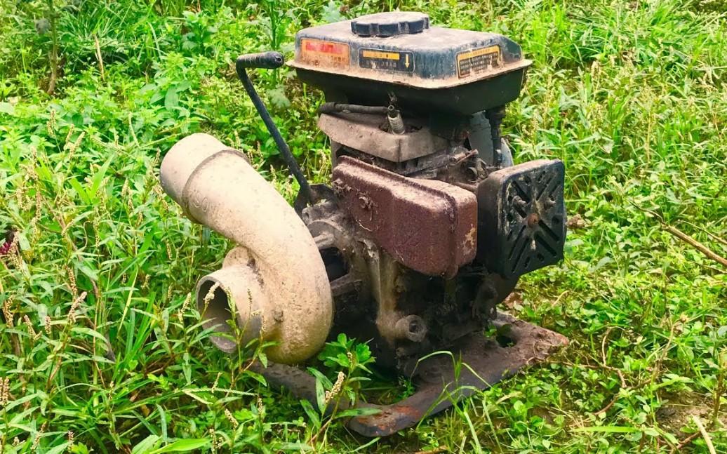 翻新修复————油管一小哥重新打磨修复一台报废的水泵