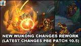 new wukong changes / mini rework 2020 (latest wukong changes,patch 10.5 pbe) - league of legends