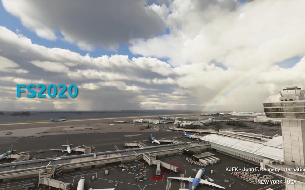 微软模拟飞行2020和X-PLANE11机场的对比