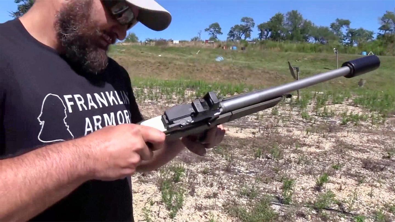 小口径.22lr自动步枪, 户外靶场射击实测, 这威力有点不尽人意