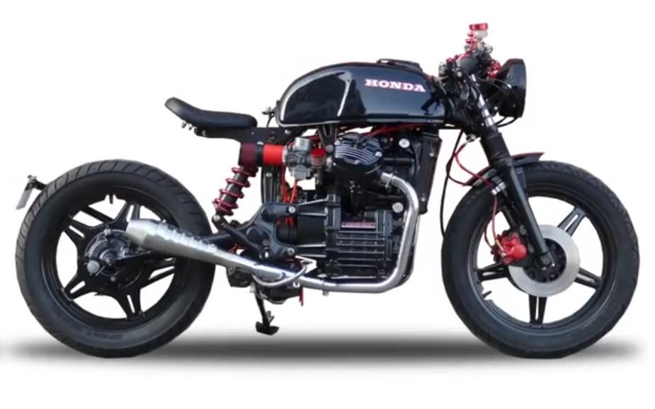 翻新修复————油管一小哥翻新一辆本田摩托车