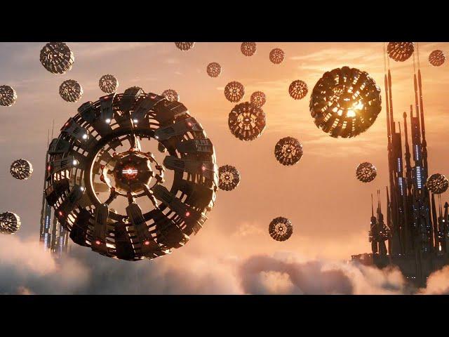 震撼科幻大作,机械星球升起无数金属球,每颗都是毁灭地球的武器