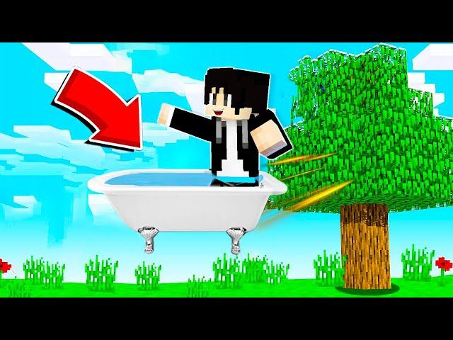 【木鱼】我的世界: 制作的浴缸居然飞起来了!还能漂移?