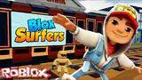 let s play subway surfers in roblox - blox surfers roblox