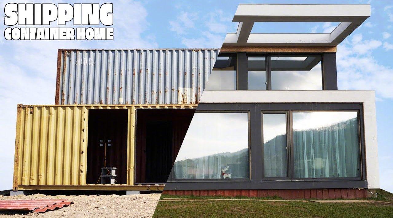 全程记录: 买5个集装箱, 改造成140平米的精致现代房屋
