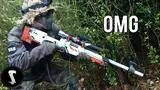 guy brings airsoft awp asiimov and quickscopes players!