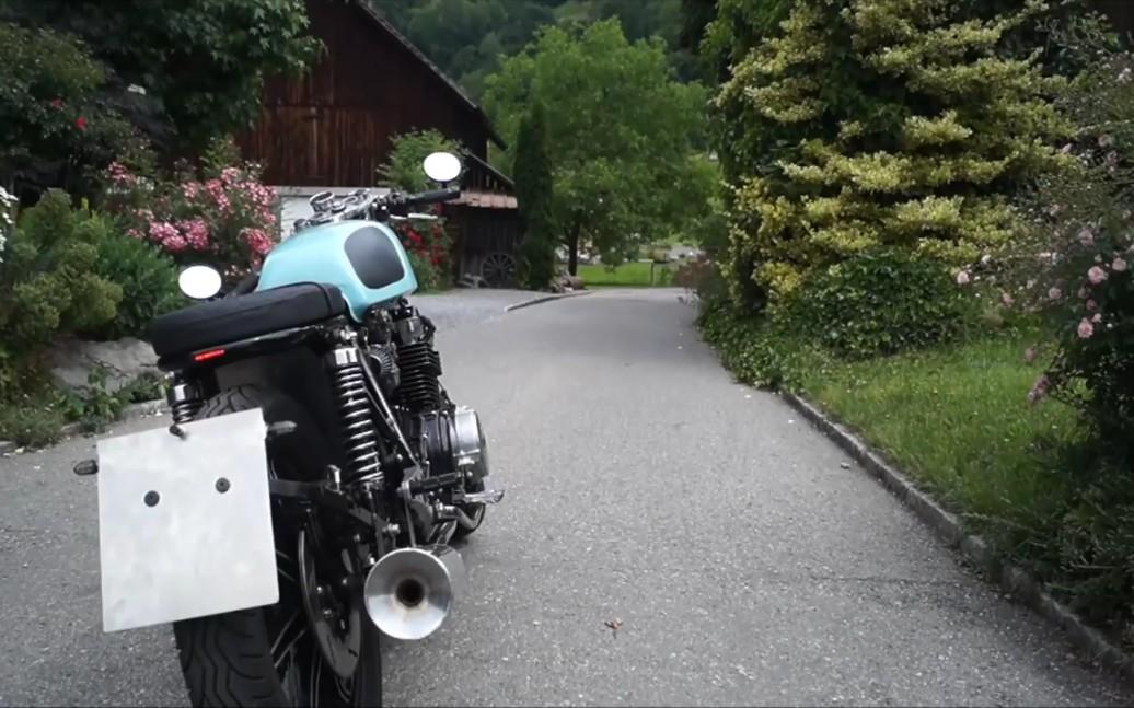翻新修复————油管一小哥修复改装一辆雅马哈摩托车