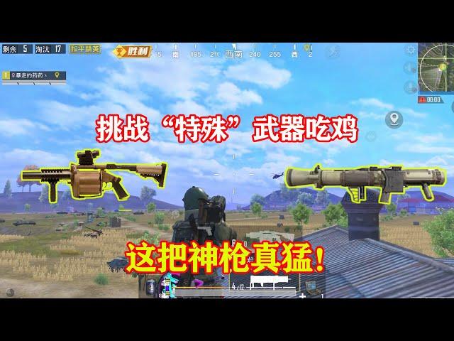 peace elite: 挑战火力对决2.0特殊武器吃鸡,大家要忘记上一期的意外呐!【暴走的小药】