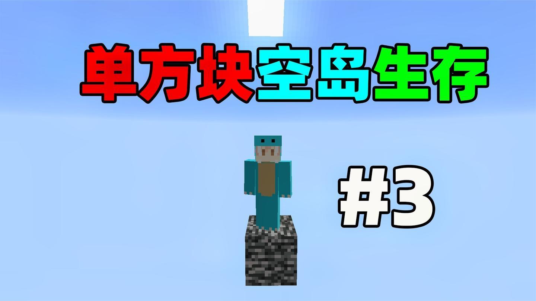 只有一个方块! 你该如何生存? 单方块空岛生存#3