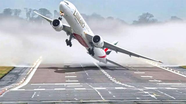 疯狂的飞机起飞降落的过程! 看了以后, 有点害怕坐飞机了