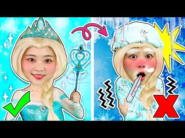 理想中的迪士尼公主vs現實中的迪士尼公主!你見過這樣的艾莎公主和人魚公主嗎?ideal vs reality disney princess 小伶玩具 | xiaoling toy