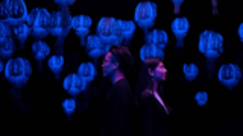 「 夜潜Ⅱ」互动纸艺装置