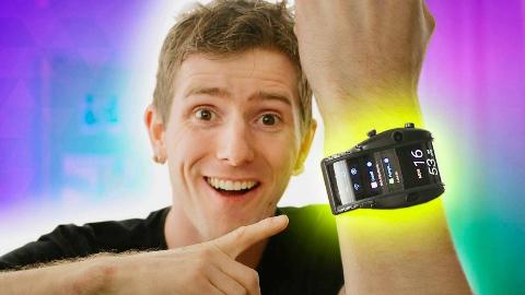 【官方双语】柔性屏腕上手机!我爱的乐色产品!努比亚阿尔法评测#linus谈科技