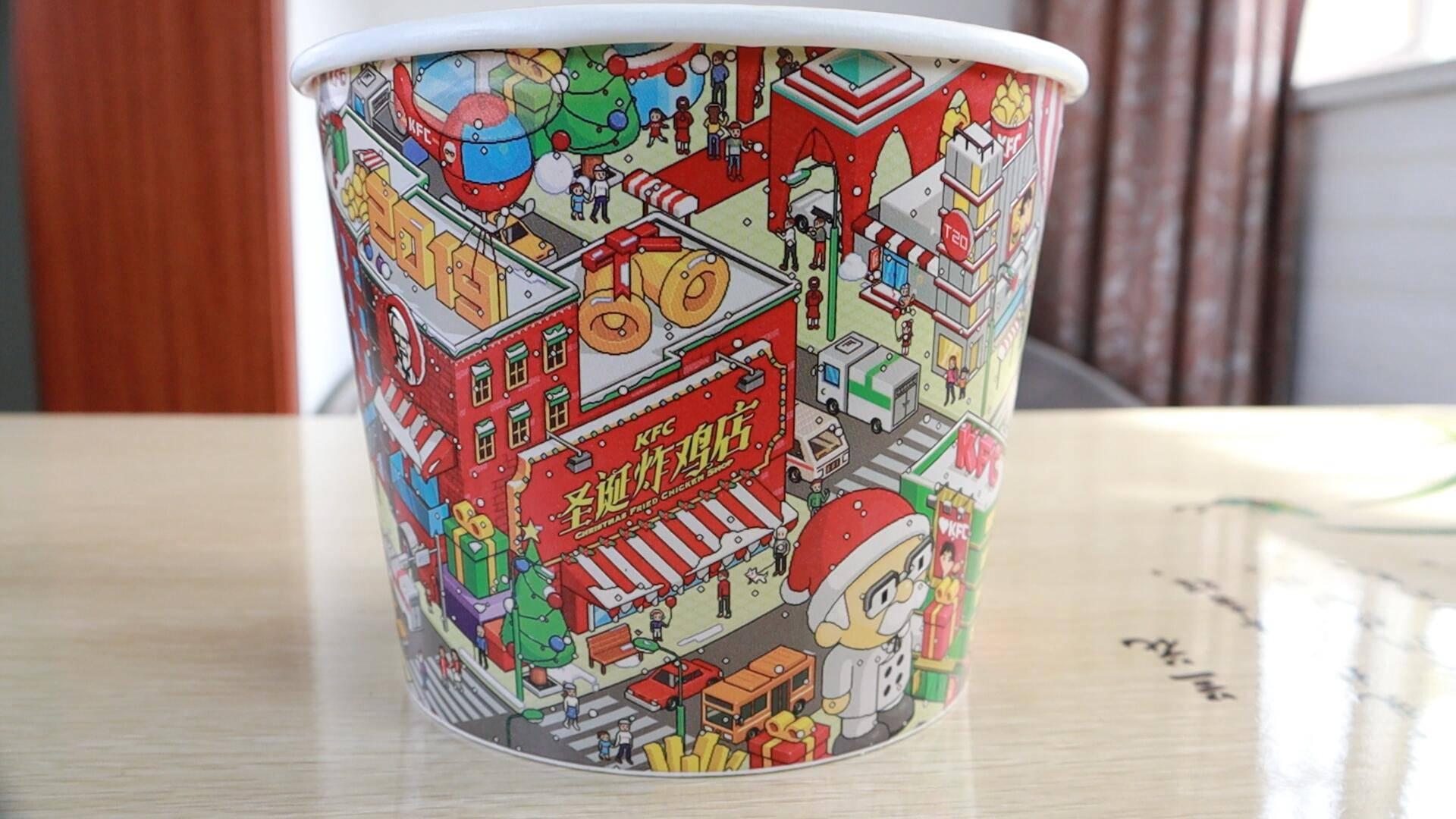 39元的肯德基圣诞炸鸡桶,新出的海苔口味真的那么好吃吗?
