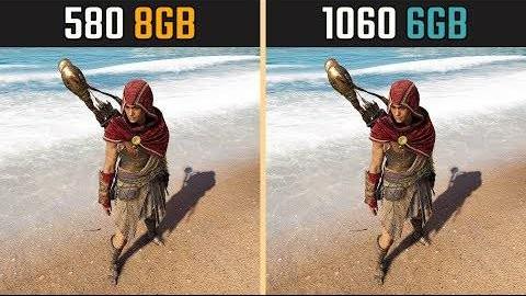 GTX 1060 vs. RX 580 (7款游戏测试)