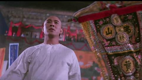 李连杰版《黄飞鸿》第三部《狮王争霸》 动作片段
