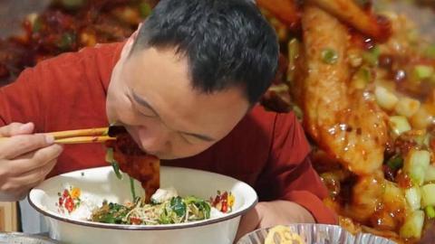 冬天,发胖也要吃的:水煮牛肉,辣爽过瘾、阿强一斤米饭还不够
