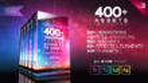 PR模板-400+视频转场文字标题特效元素动画音效素材V3