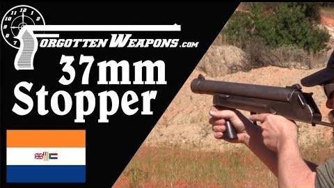【被遗忘的武器/双语】南非阻滞者37mm镇暴枪靶场试射