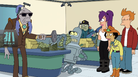 一个瞎子把守火星最安全的钱库,是个高手!动画《飞出个未来》