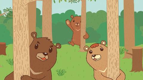 日语版三只小熊,歌曲学习,动画视频教学