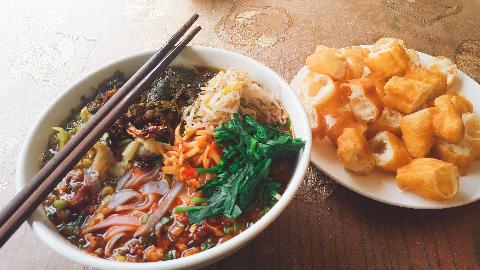 【粉王的早餐】—其他颜色的米干和白色的有什么不一样??