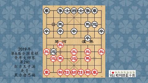 2019年第6届全国象棋青年大师赛第2轮,王子涵先负唐思楠