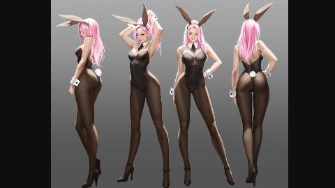 这么性感的兔女郎~~实在受不了了~~