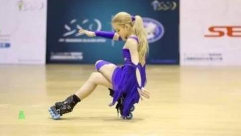 紫色精灵-轮滑冠军俄罗斯小美女索菲