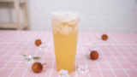 奈雪の茶的霸气荔枝做法——小兔奔跑奶茶教程