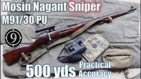 [9-Hole Reviews]使用莫辛纳甘PU瞄具狙击步枪挑战射击500码目标