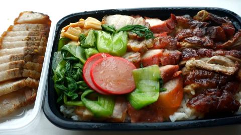 叉烧,烧鸭和烧肉,31元买了份三拼烧腊饭,一次性吃肉吃到爽!
