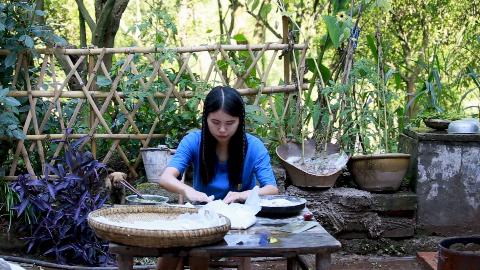 农村妹子第一次做水饺,做了30个饺子,看她的姿势,就知道好吃