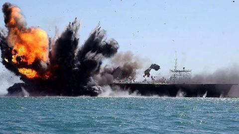 美军飞行员嗑药开飞机撞向甲板,自家核动力航母险些被炸沉!