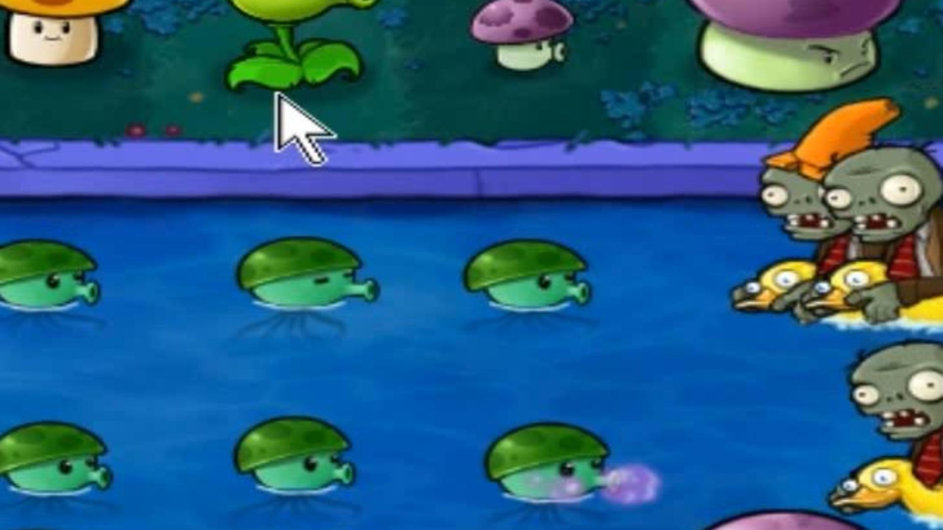 植物大战僵尸:带错装备只能乱打,幸好水蘑菇足够厉害