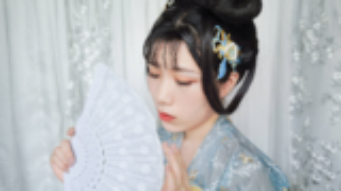 【秋豆沙】汉服发型教程,襦裙夏日百搭拍照日常