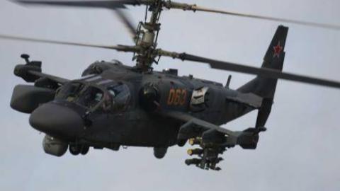 卡-52面向俄罗斯民众进行特技飞行展示
