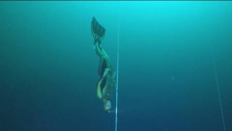 感受下世界潜水记录 130m!