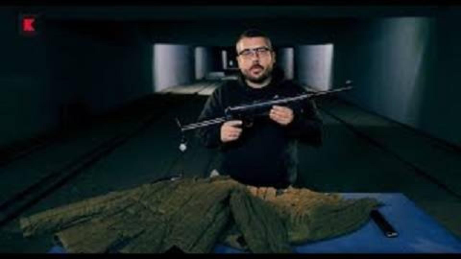 【搬运/已加工字幕】苏联红军的军大衣能挡住MP40的子弹吗?