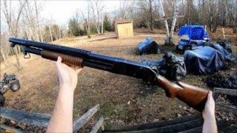 第一人称看射击温彻斯特M1897战壕型