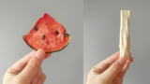 试吃奇葩水果干:西瓜混合甘蔗干是什么味道?