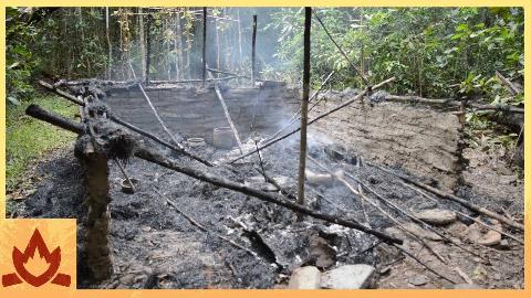 [搬运]1080p【空手澳洲小哥第46期】小屋被烧毁了,建造一个新的