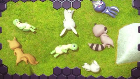 迷你特工队28 可爱的小浣熊被人类追赶,浣熊宝宝很害怕,幸好弗特感到救了他们!