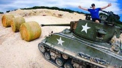 测试干草捆能挡住二战坦克射击吗