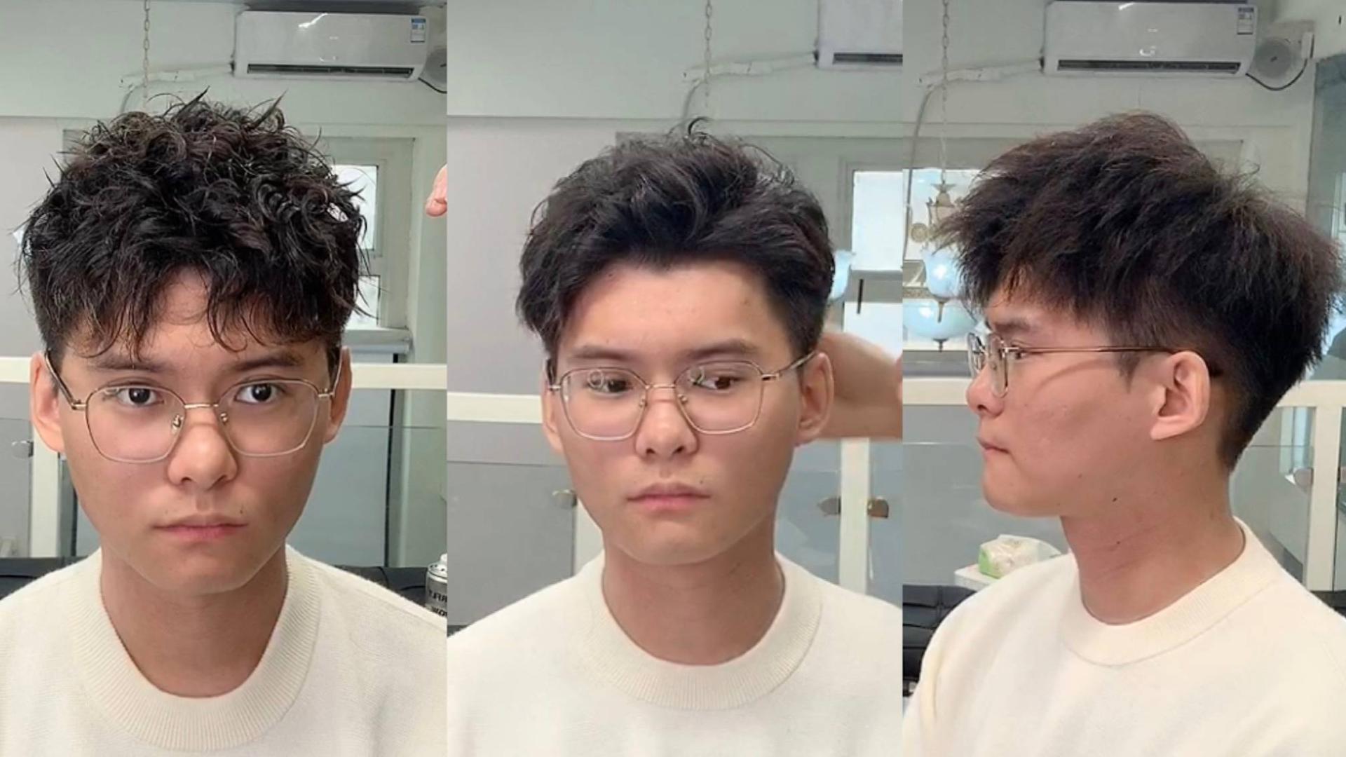 小伙不烫不染,发型师竟然能变化出三款造型,关键每款都帅爆了!
