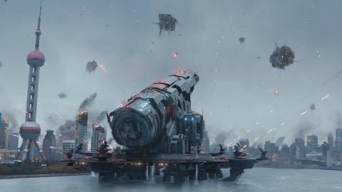 未来中国研制出巨型大炮,一炮就打掉了外星人母舰,最新科幻电影